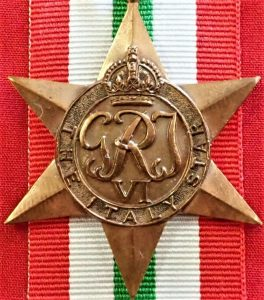 VINTAGE WW2 THE ITALY STAR AUSTRALIA BRITISH WAR MEDAL 100% ORIGINAL ANZAC