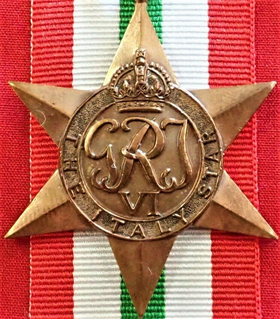 VINTAGE WW2 THE ITALY STAR AUSTRALIA BRITISH WAR MEDAL 100% ORIGINAL ANZAC
