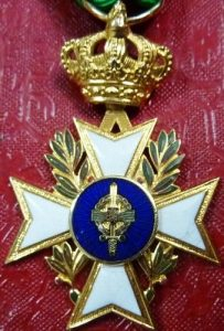 WW2 BELGIUM MILITARY CROSS MEDAL FOR OCCUPATION OF GERMANY 1945-1955 CASED