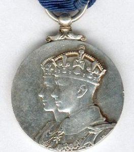 **SOLD** 1937 BRITISH ROYAL CORONATION MEDAL KING GEORGE VI