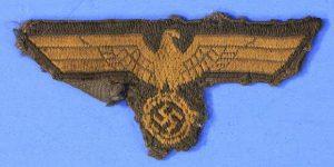 WW2 GERMAN NAVY COASTAL ARTILLERY CAP EAGLE