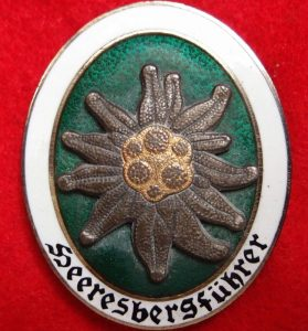 RARE WW2 GERMAN ARMY MOUNTAIN GUIDE BADGE