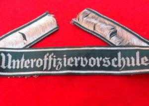 WW2 GERMAN UNTEROFFIZIERSCHULE UNIFORM CUFF TITLE