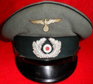 WW2 GERMAN ARMY NCOS ENGINEER TROOPS PEAKED UNIFORM CAP