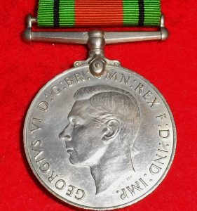ANZAC – BRITISH DEFENCE SERVICE WAR MEDALS WW2