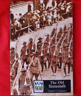 BOOK WW1 16TH BATTALION WESTERN AUSTRALIAN INFANTRY BN ANZAC UNIT HISTORY