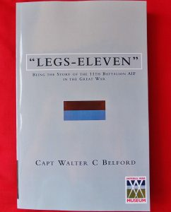 BOOK WW1 11TH BATTALION WESTERN AUSTRALIAN INFANTRY BN ANZAC UNIT HISTORY