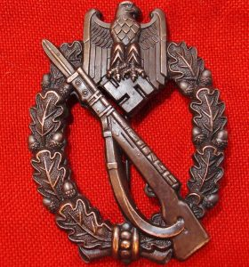 WW2 GERMAN ARMY/SS INFANTRY ASSAULT BADGE BRONZE