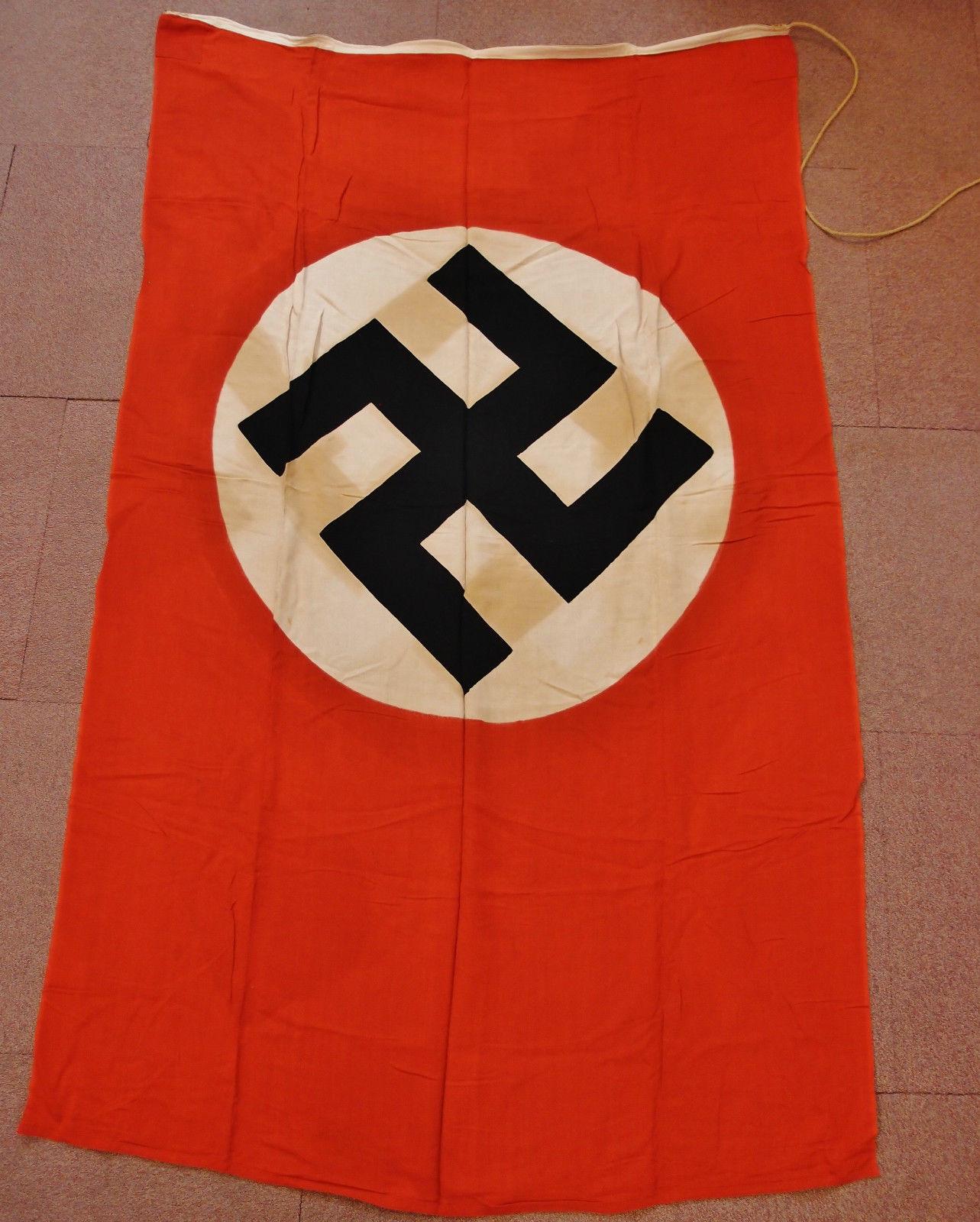 RARE WW2 GERMAN NAZI PARTY COTTON FLAG