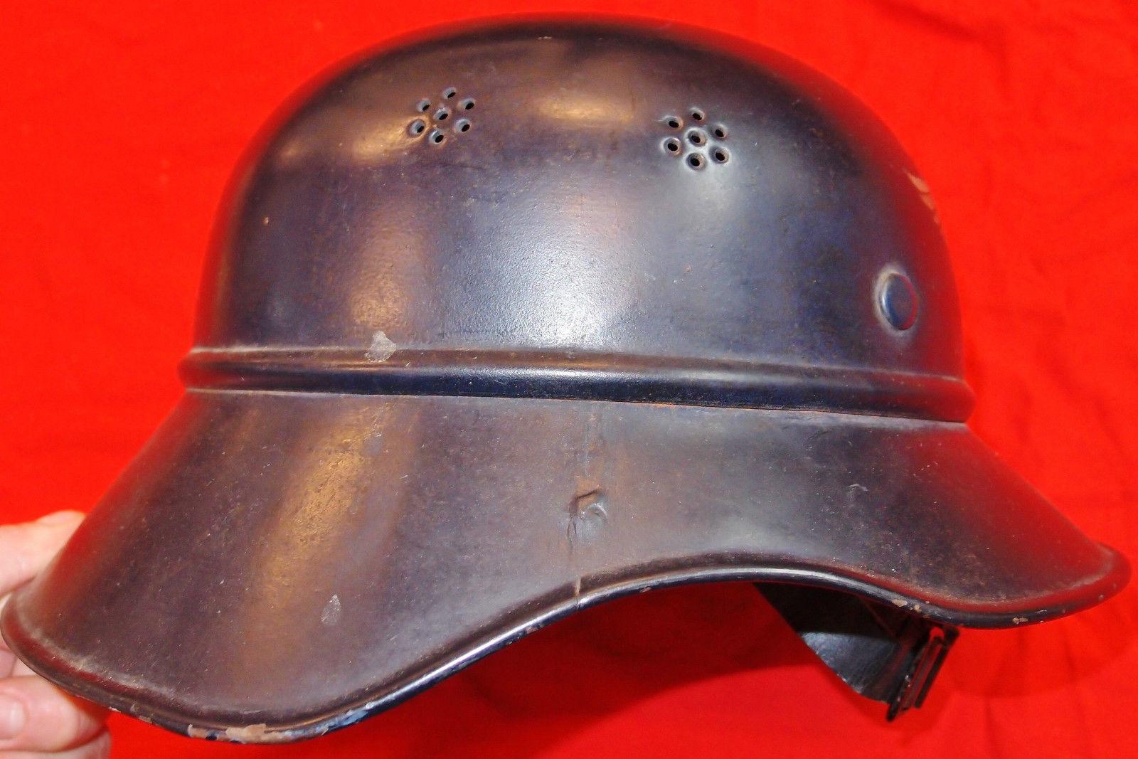 WW2 GERMAN M38 LUFTSCHUTZ AIR RAID WARDEN GLADIATOR HELMET