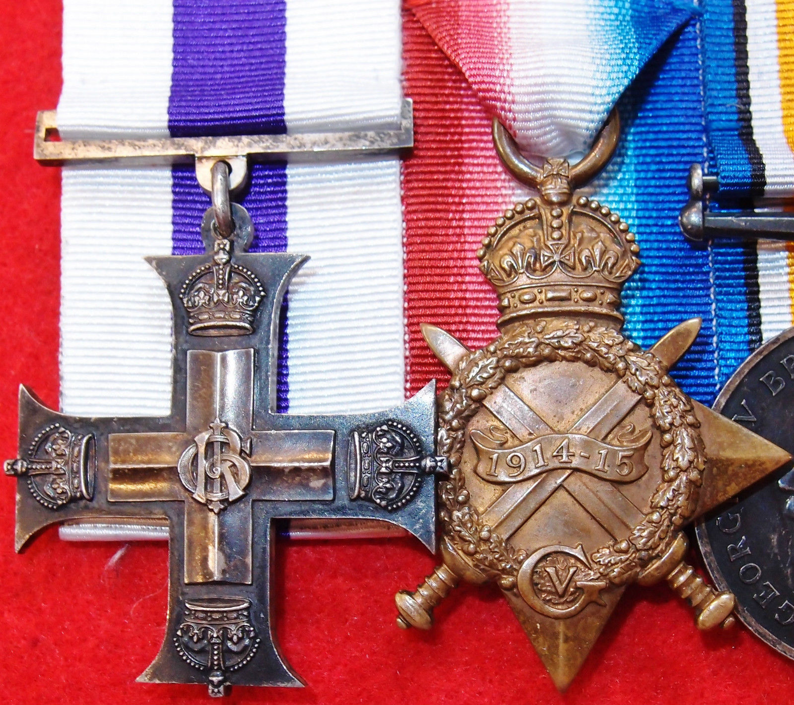 Ww1 British Army Military Cross Medal Group Italy Front