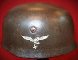 WW2 NAZI GERMANY LUFTWAFFE PARATROOPER DOUBLE DECAL HELMET RARE