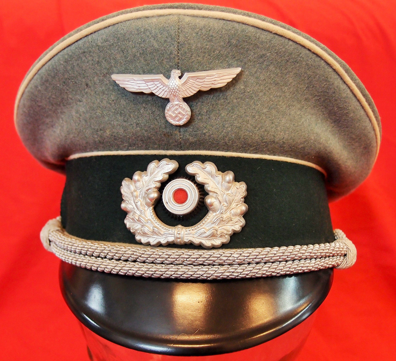 WW2 NAZI GERMANY ARMY INFANTRY OFFICER PEAKED CAP HAT – JB Military ... 3c64ded2d31