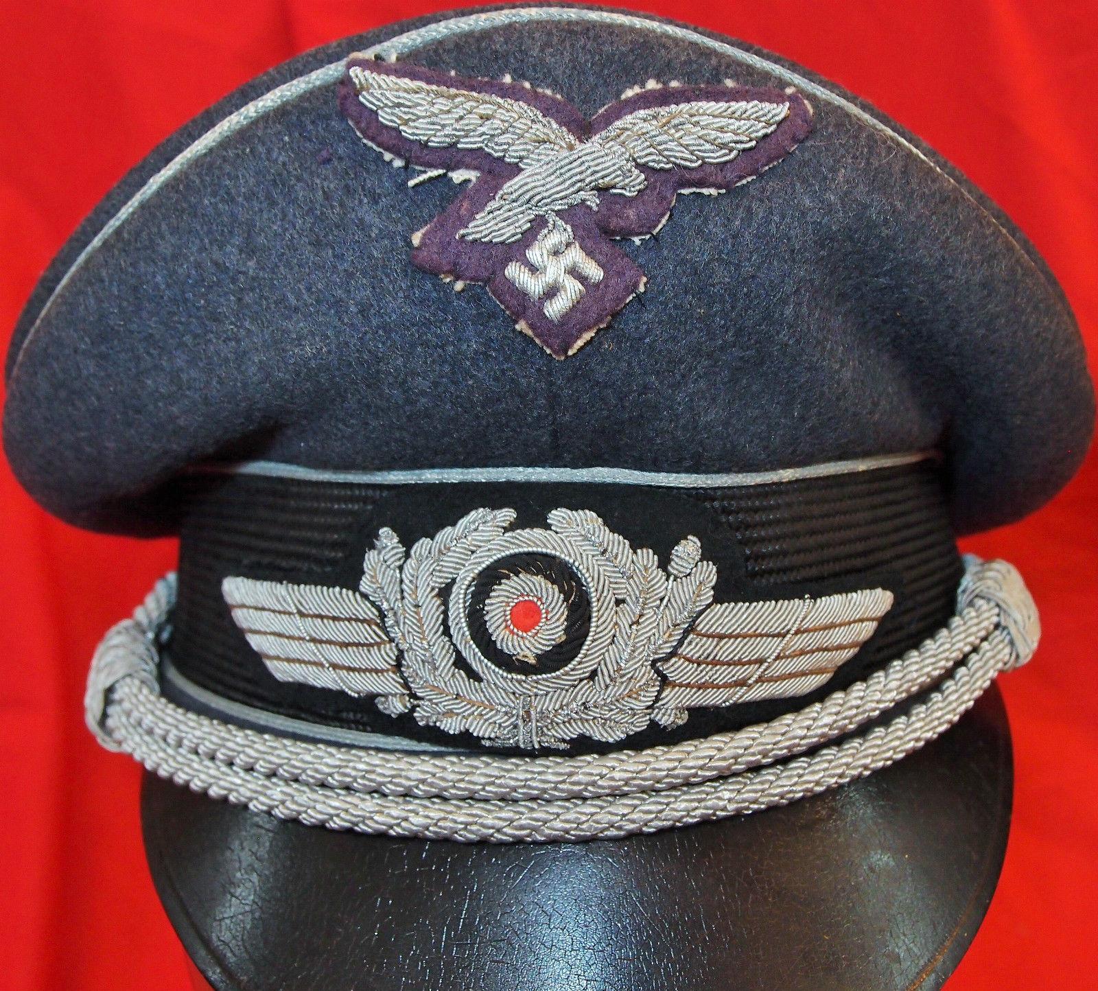 Ww2 German Air Force Officer S Luftwaffe Visor Cap By Erel