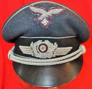 WW2 GERMAN AIR FORCE OFFICER'S LUFTWAFFE VISOR CAP BY EREL