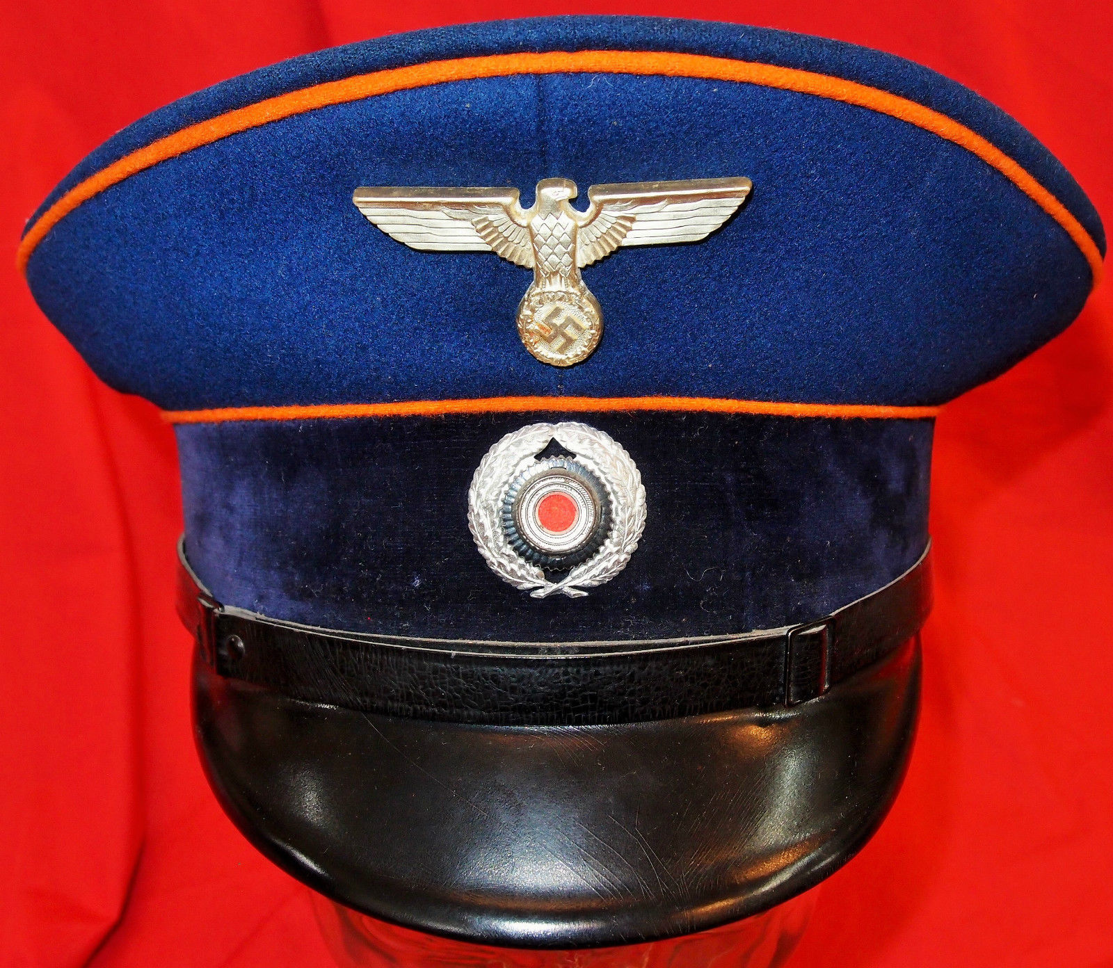 WW2 GERMAN POSTAL OFFICIAL'S SERVICE PEAKED SERVICE CAP