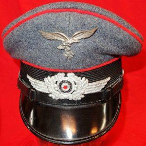 WW2 GERMAN AIR FORCE LUFTWAFFE ARTILLERY NCO'S PEAKED CAP