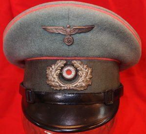 WW2 GERMAN ARMY NCOS PANZER TROOPS PEAKED UNIFORM CAP