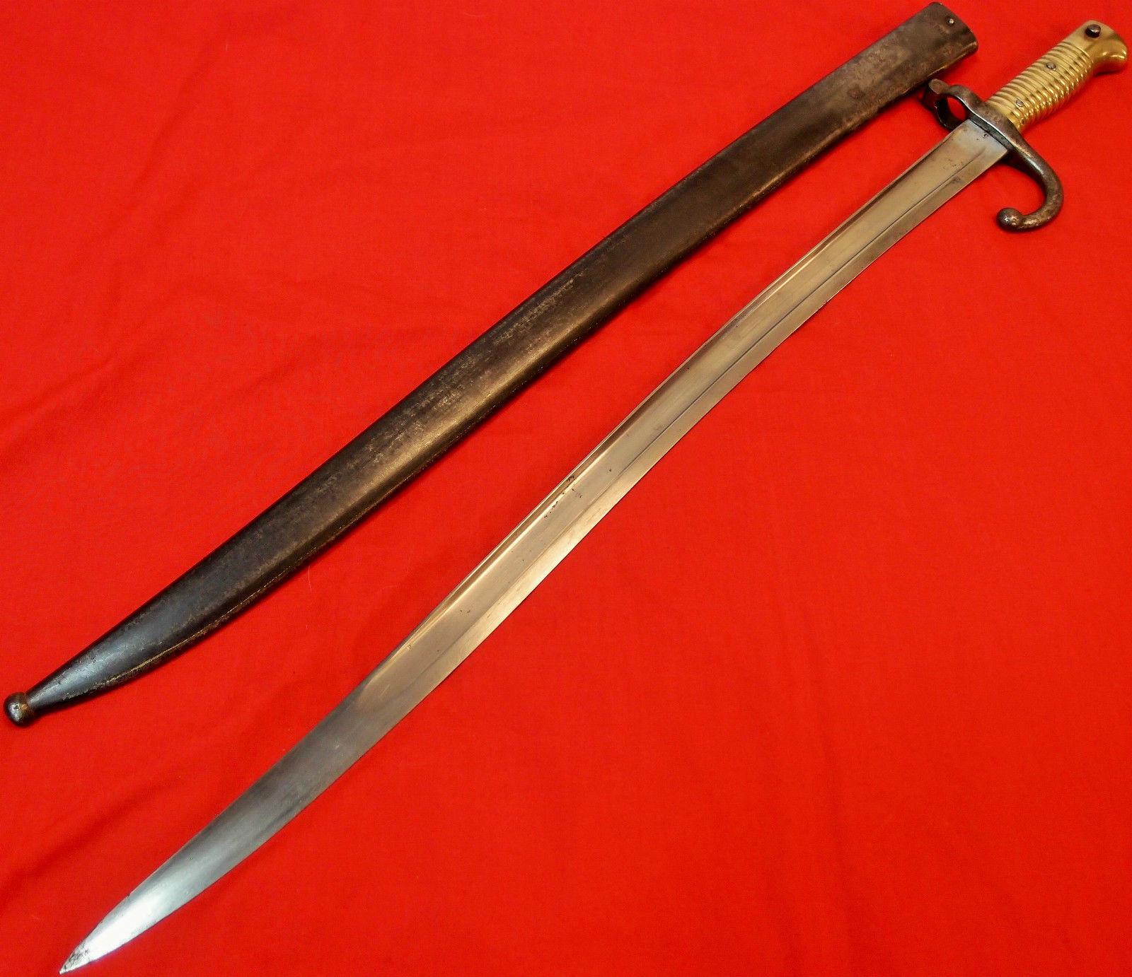 1866 Chassepot Sword Bayonet Amp Scabbard Yataghan Type