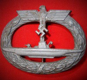WW2 GERMAN NAVY KRIEGSMARINE U BOAT SUBMARINE BADGE