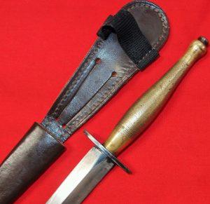 WW2 BRITISH AUSTRALIAN ARMY FAIRBAIRN & SYKES COMMANDO KNIFE SWORD & SCABBARD