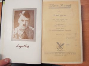 **SOLD** 1933 EDITION OF HITLER'S MEIN KAMPF BOOK