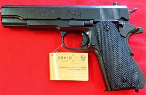 REPLICA M1911 US COLT HAND GUN PISTOL DENIX - BLACK STRIP DOWN TYPE