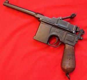 REPLICA WW1 WW2 GERMAN M-96 MAUSER PISTOL BY DENIX