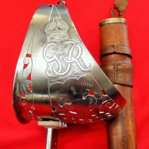 WW2 BRITISH OR AUSTRALIAN ARMY 1897 PATTERN SIGNAL OFFICERS SWORD & SCABBARD