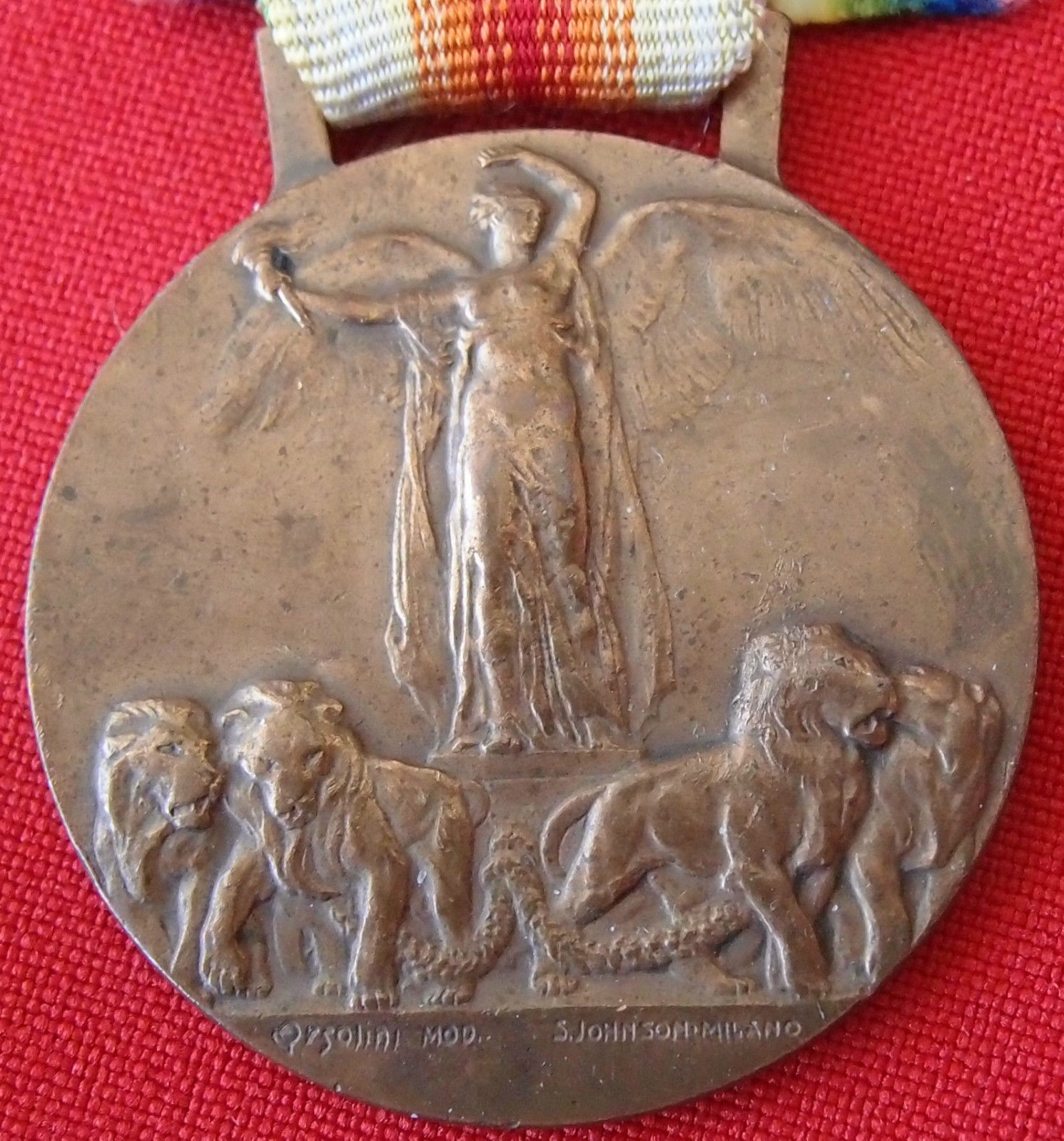 WW1 ITALIAN VICTORY MEDAL 1914-1918 BY STEFANO JOHNSON OF MILAN