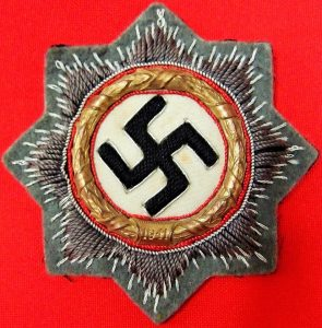 WW2 GERMAN CROSS IN GOLD CLOTH VERSION