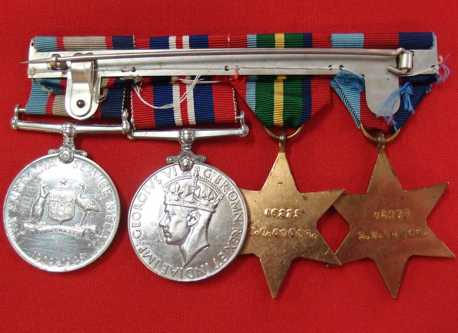 WW2 WEST AUSTRALIAN PRISONER OF WAR MEDAL GROUP RAAF THAI BURMA RAILWAY