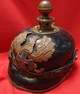 RARE WW1 GERMANY PRUSSIAN RESERVISTS SPIKED HELMET PICKELHAUBE (KUGELHELM)