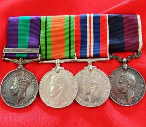 WW2 BRITISH ROYAL AIR FORCE RAF SERVICE MEDAL GROUP WITH GSM FOR PALESTINE