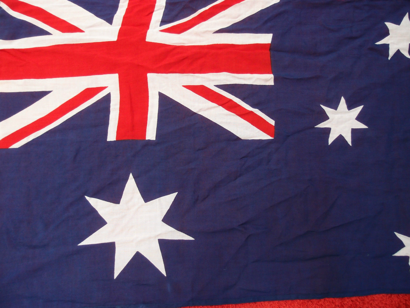 Good quality cotton fabric australian national flag 1 5 for Star fabric australia