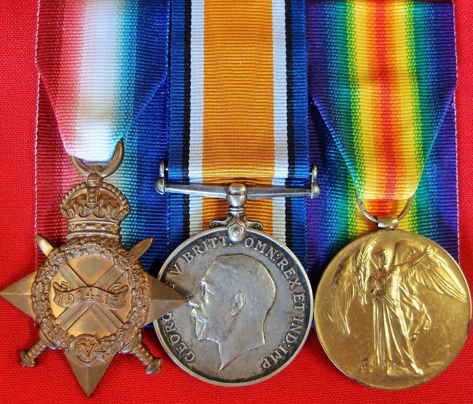 WW1 BRITISH ARMY MEDAL TRIO KIA GROUP POLLITT LANCASHIRE FUSILIERS GALLIPOLI