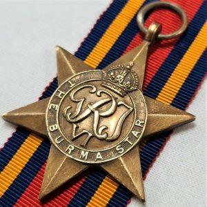 VINTAGE WW2 BURMA STAR AUSTRALIA BRITISH WAR MEDAL 100% ORIGINAL