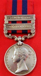 **SOLD** BRITISH 2 BAR 1854 INDIA GENERAL SERVICE MEDAL WAR KINGS RIFLES