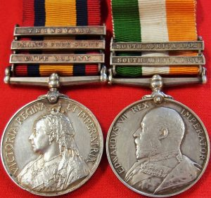 BRITISH  QUEEN'S/KING'S SOUTH AFRICA BOER WAR SERVICE MEDAL GROUP TOWNSEND WEST KENTS QUEENS SOUTH AFRICA