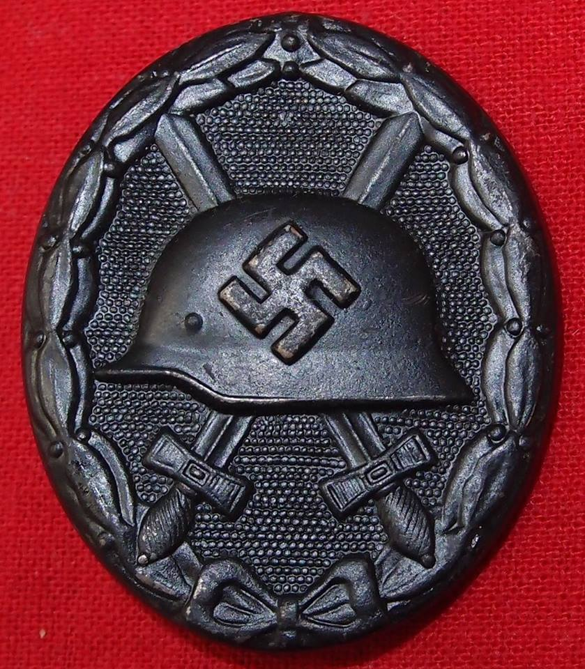 WW2 GERMAN WOUND BADGE IN BLACK FOR COMBAT ACTION