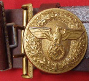 WW2 GERMAN N.S.D.A.P. NAZI PARTY OFFICIAL'S BELT & BUCKLE