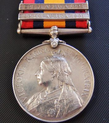 BRITISH QUEEN'S SOUTH AFRICA BOER WAR SERVICE MEDAL TO IMPERIAL HOSPITAL CORPS CANIN