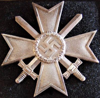 CASED WW2 GERMAN NAZI WAR MERIT CROSS 1ST CLASS BY DESCHLER & SON 5