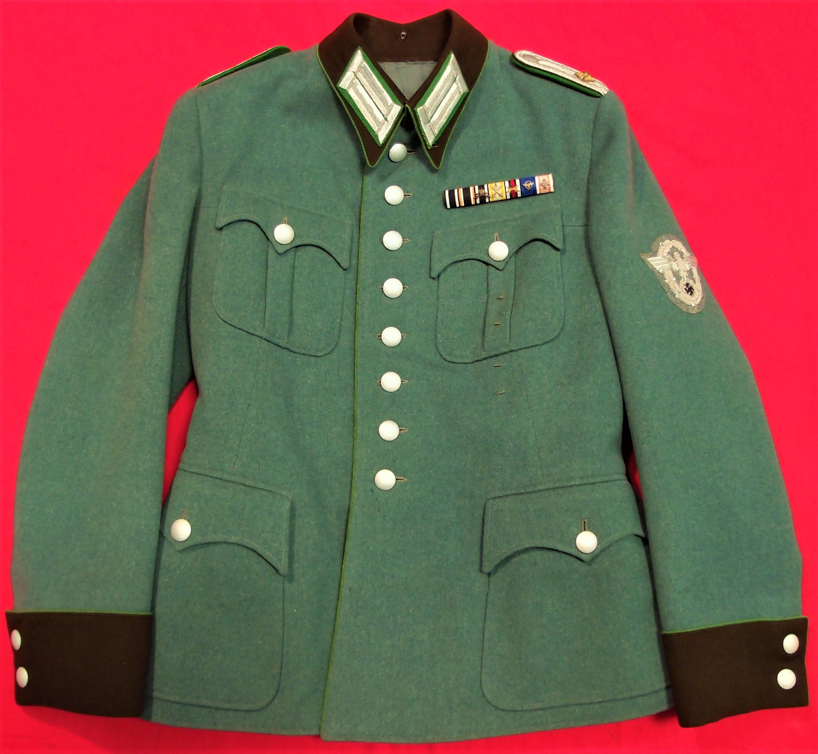 WW2 GERMAN POLICE OFFICER'S JACKET, PANTS & PEAKED CAP
