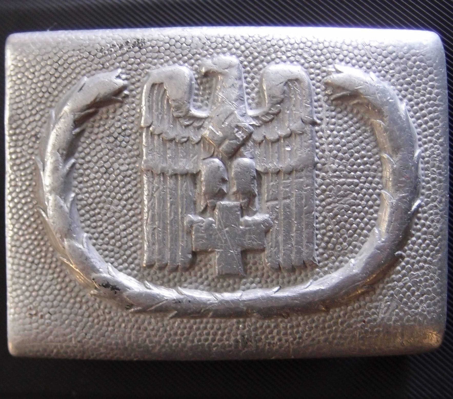 WW2 GERMAN NAZI RED CROSS BELT BUCKLE DRK Koppelschloß