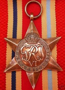 VINTAGE WW2 THE AFRICA STAR AUSTRALIA BRITISH