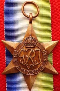 VINTAGE WW2 ATLANTIC STAR AUSTRALIA BRITISH WAR MEDAL