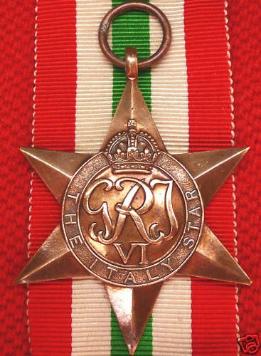 WW2 BRITISH SERVICE MEDAL THE ITALY STAR