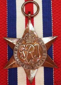 VINTAGE WW2 THE FRANCE & GERMANY STAR AUSTRALIA BRITISH WAR MEDAL