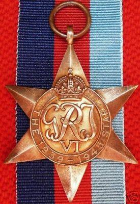 WW2 AUSTRALIA UK CANADA WAR MEDALS 1939-45 STAR